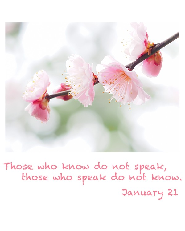those who know do not speak, those who speak do not know