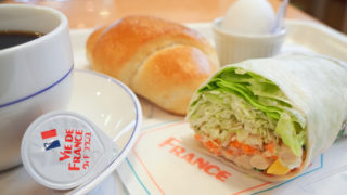 ヴィドフランスの「10品目の豆乳サラダラップ」が美味しい