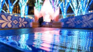 さいたま新都心Blue Flower Dreamingを多重露光と露光間ズームで撮る