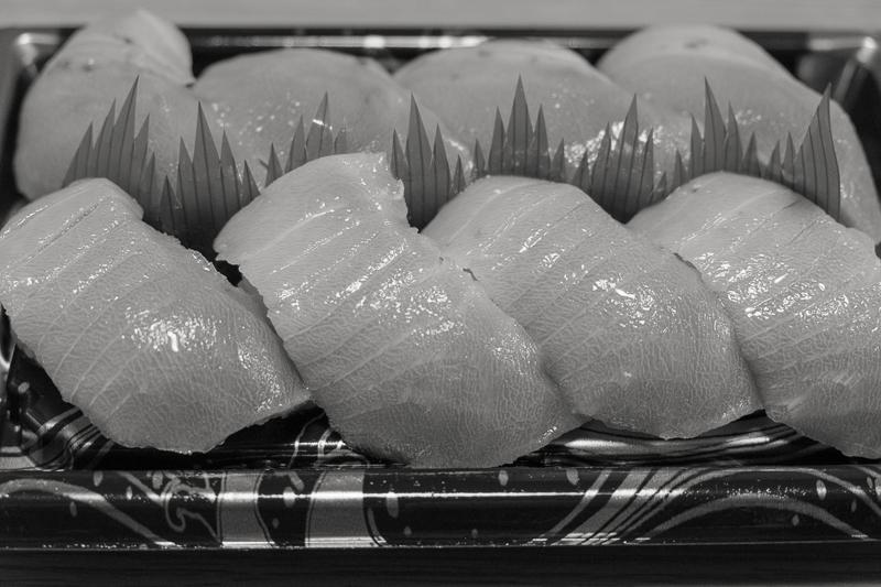 モノクロで寿司