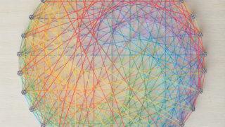 梅雨の糸かけ曼荼羅(1)虹をかけよう