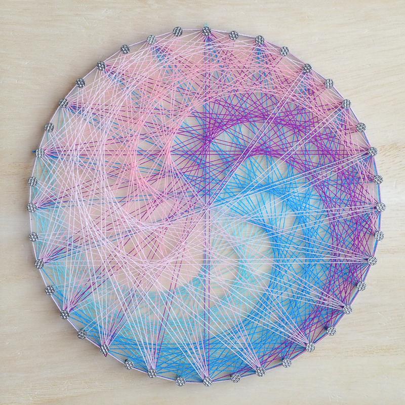 紫陽花の糸かけ
