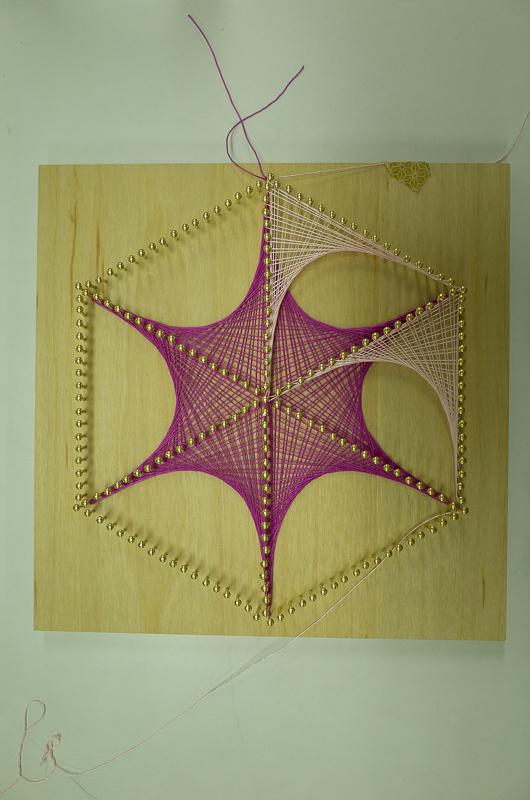 つぼみの糸かけ曼荼羅ワークショップ