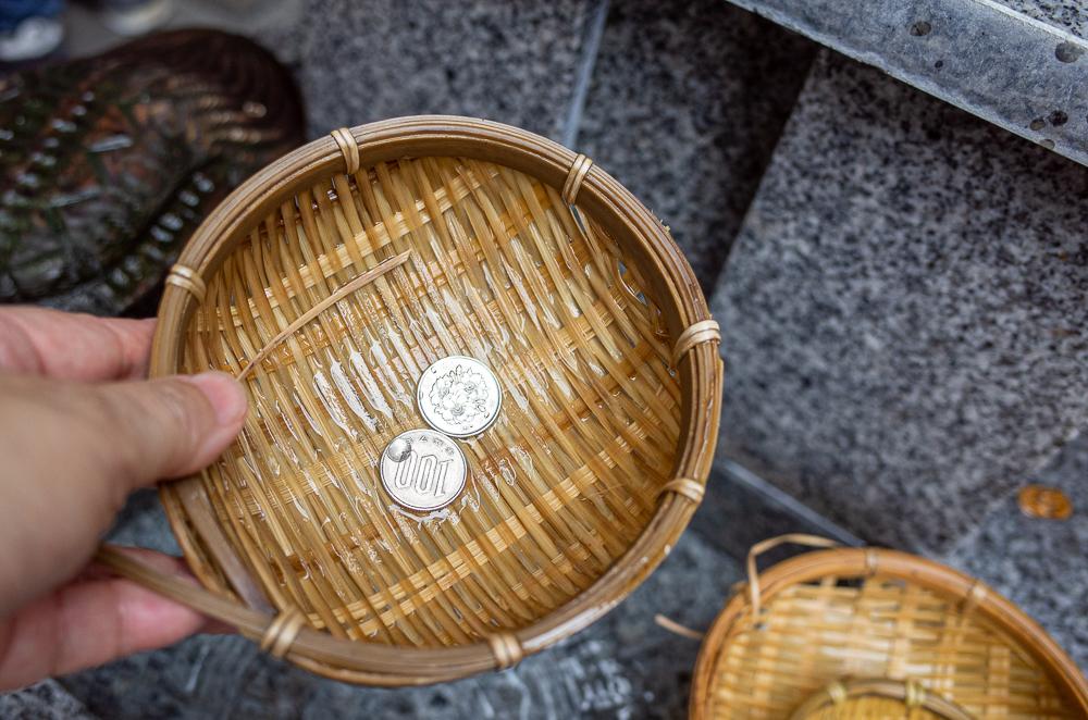 小網神社銭洗い