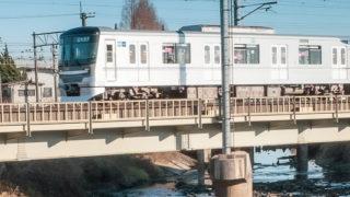 散歩で出会った電車、でんしゃ