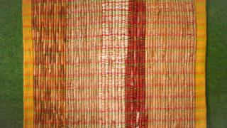 裂き織りマットを作りました